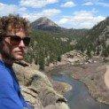 Matt Sandler in front of a landscape